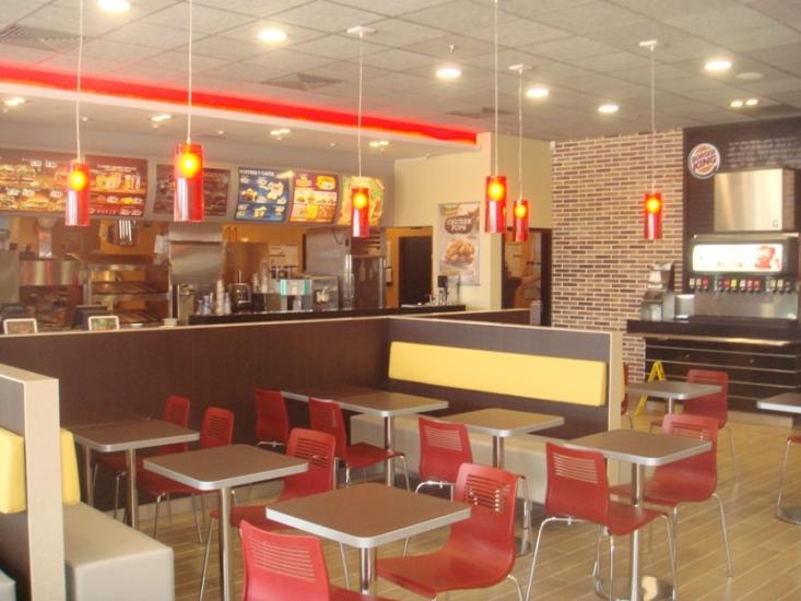 Pintado de todo el local del  Burger King